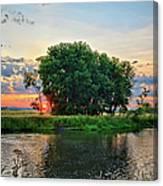 Big Marsh Sun Canvas Print