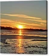 Big Marsh Sunset 4 Canvas Print