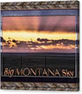 Big Montana Sky Canvas Print