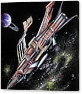 Big, Old Space Shuttle Of Dead Civilization Canvas Print