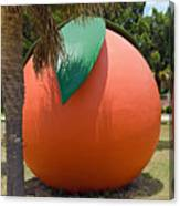Big Orange At Melbourne On The East Coast Of Florida Canvas Print