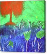 Big Orange Tree Canvas Print