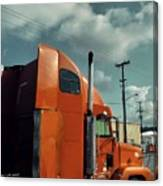 Big Orange Truck Canvas Print