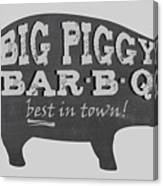 Big Piggy Bar B Q  Canvas Print