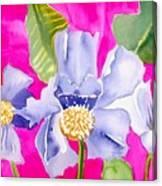 Big Pink  Flowers Canvas Print