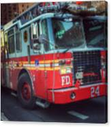 Big Red Engine 24 - Fdny - Firefighters Of New York Canvas Print