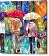 Big Red Umbrella Canvas Print