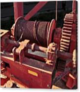 Big Red Winch Canvas Print