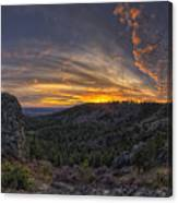 Big Rock Panorama Canvas Print