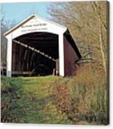 Big Rocky Fork Bridge Indiana Canvas Print