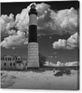 Big Sable Lighthouse Under Cloudy Skies Canvas Print