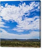 Big Sky In Pecos Valley Canvas Print