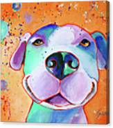 Big Smile - Dog Art By Valentina Miletic Canvas Print