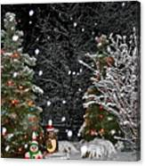 Big Snow Flakes    Holiday Card 6 Canvas Print