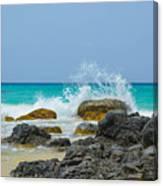 Big Splash On Rocks Of Playa Brava Canvas Print