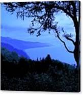 Big Sur Blue, California Canvas Print