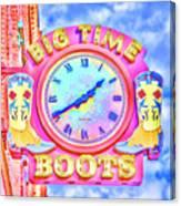 Big Time Boots - Nashville Hot Pink Canvas Print