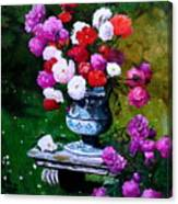 Big Vase With Peonies Canvas Print