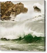 Big Waves Comin In Canvas Print
