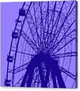 Big Wheel Blue Canvas Print