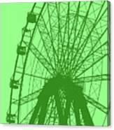 Big Wheel Green Canvas Print