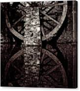 Big Wheel In Bw Canvas Print