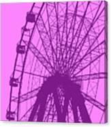 Big Wheel Purple Canvas Print