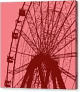 Big Wheel Red Canvas Print