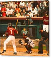 Biggio At Bat Houston Astros Canvas Print