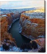 Bighorn Canyon In Winter Canvas Print