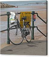 Bike Against Railings Canvas Print