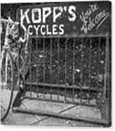 Bike At Kopp's Cycles Shop In Princeton Canvas Print