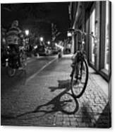Bike Between Lights And Shadows, Netherlands Canvas Print