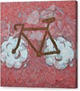Bike-cloud Red - Da Canvas Print