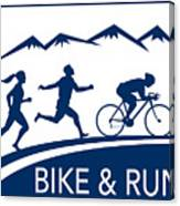 Bike Cycle Run Race Canvas Print