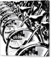 Bike Fleet Canvas Print