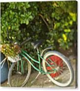 Bike In Maupiti Canvas Print