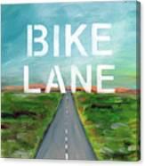 Bike Lane- Art By Linda Woods Canvas Print