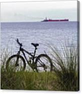 Bike On The Bay Canvas Print