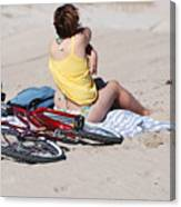 Bike On The Beach Canvas Print