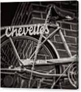Bike Over Chevelles Canvas Print