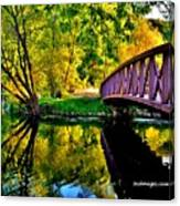 Bike Path Bridge Canvas Print