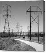 Bike Power On Platte Trail Canvas Print