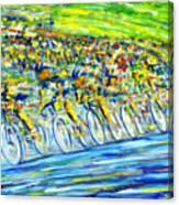 Bike Race Canvas Print