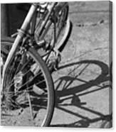 Bike Shadow Canvas Print