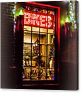 Bike Shop Window Canvas Print