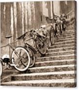Bike Stairs Zurich Canvas Print