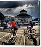 Bike The Boardwalk At Rehoboth Beach  Delaware, 2015 Canvas Print