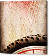 Bike Wheel Red Spray Canvas Print
