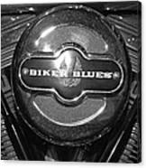 Biker Blues Canvas Print